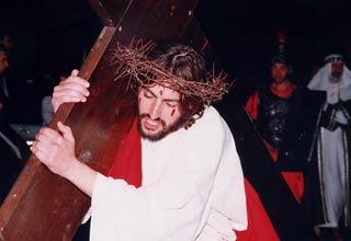 Gian Matteo Scafidi in una precedente edizione di Jesus - foto parrocchia San Nicola