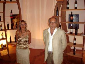 Anna di Rienzo, presidente Patti Arte e Giuseppe Venuto sindaco di Patti.
