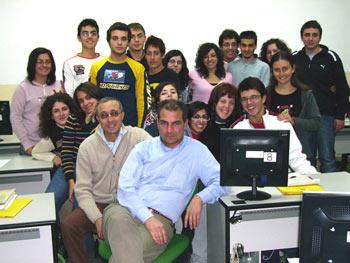 Alcuni degli alunni delle scuole pattesi che hanno partecipato al corso