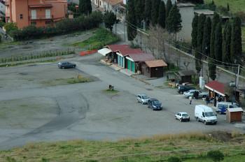 L'area dei parcheggi di Locanda