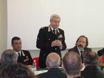 Il generale Esposito nel corso del suo intervento.